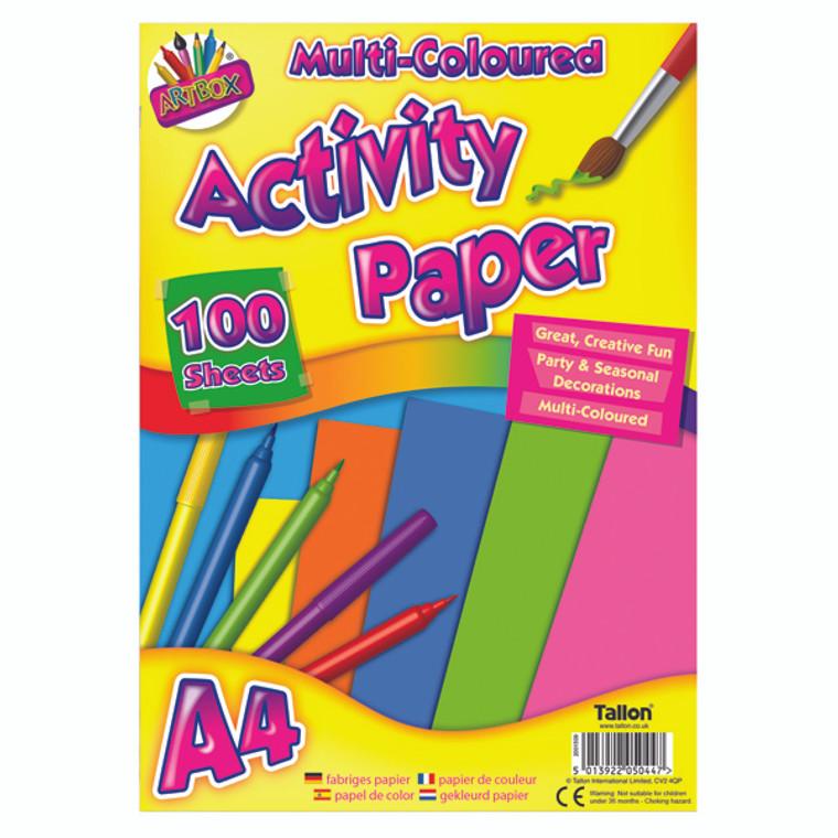 TAL05044 Art Box Activity Paper 100 Sheet A4 Assorted Pack 6 TAL05044