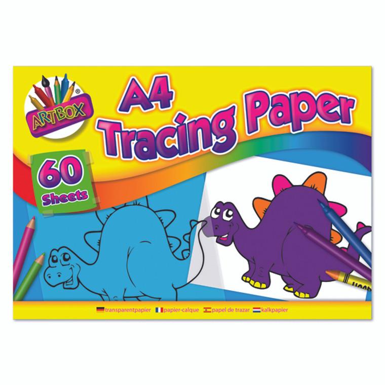 TAL05069 Art Box Tracing Paper Pad A4 60 Sheets Pack 12 TAL05069