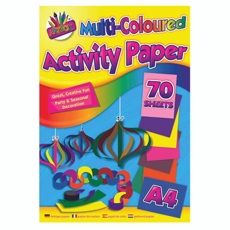 TAL06872 Art Box Activity Paper Pad A4 Assorted Pack 12 TAL06872