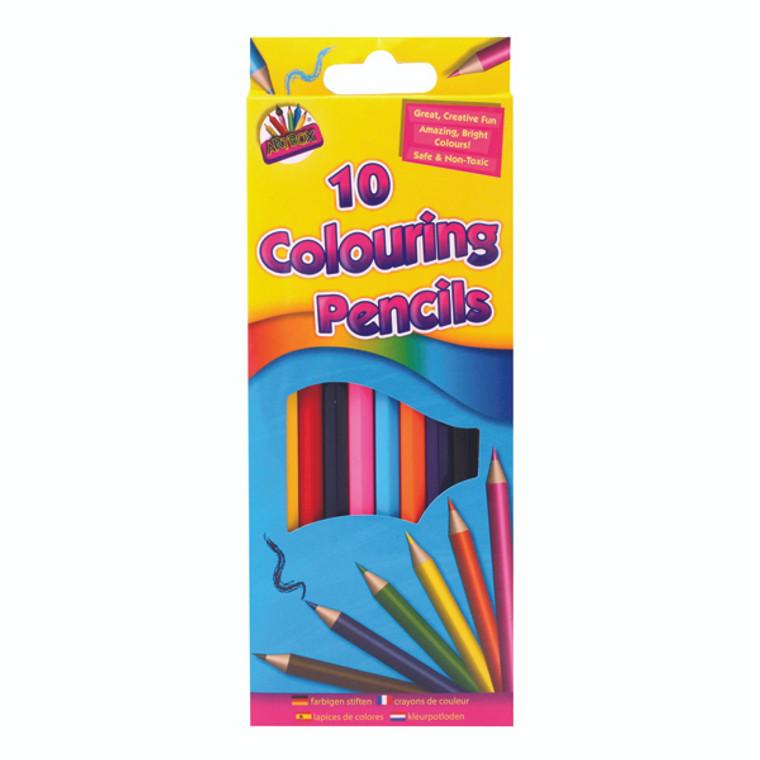 TA05120 Artbox 10 Full Size Colour Pencils Pack 12 5120