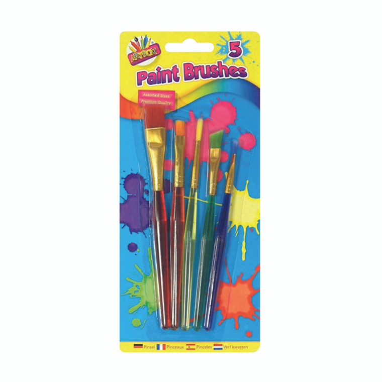 TAL5453 Artbox 5 Assorted Paint Brushes Pack 12 5453