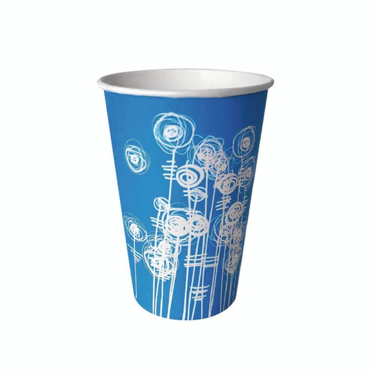 AU32220 Aqua Swirl 7oz Paper Water Cup Pack 100