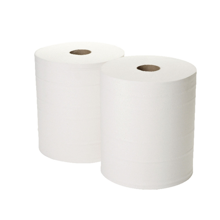 2W00132 2Work 2-Ply Forecourt Roll 260m White Pack 2 1WH100