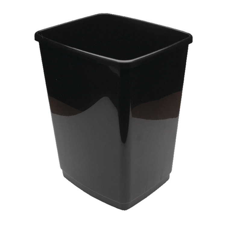 2W02381 2Work Swing Bin Base Only 50 Litre Plastic Black 2W02381