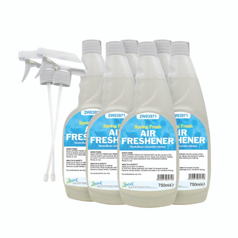 2W07248 2Work Air Freshener Trigger 750ml Pack 6 812