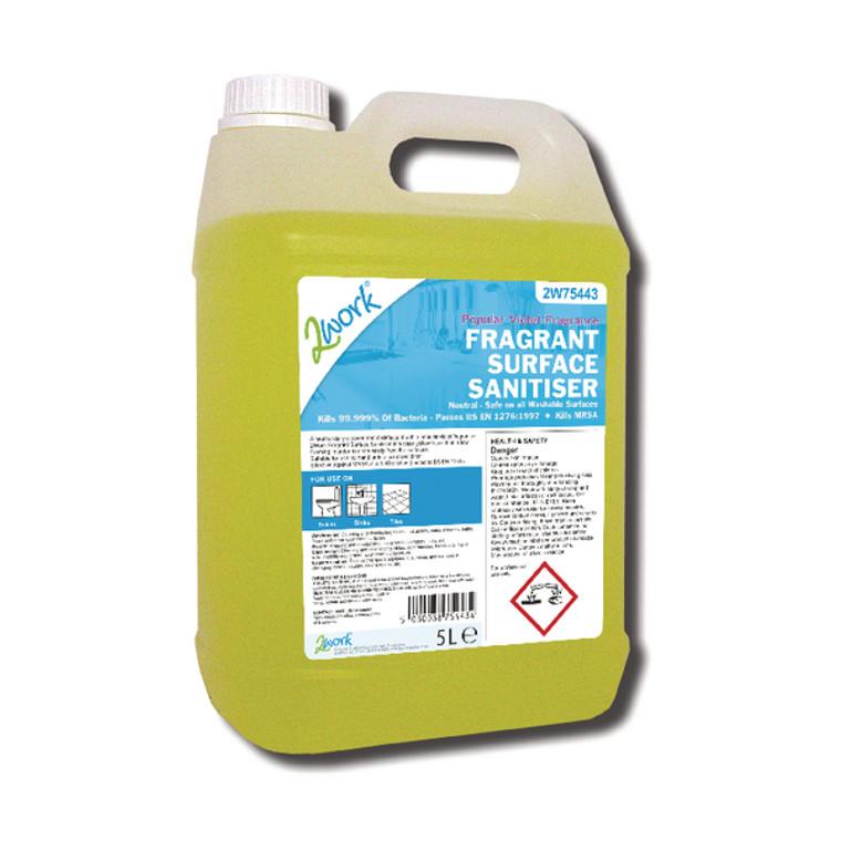2W75443 2Work Fragrant Surface Sanitiser 5 Litre 2W75443