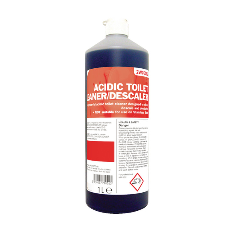 2W76002 2Work Acidic Descaling Toilet Cleaner 1 Litre 2W76002