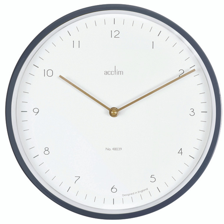 ANG29457 Acctim Bronx 30cm Wall Clock Grey 29457