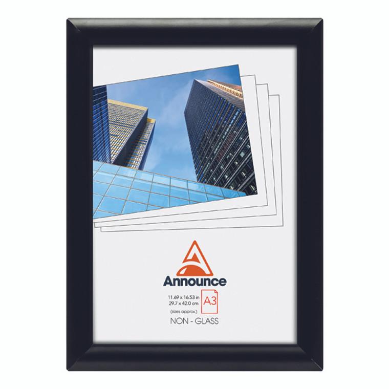 AA06223 Announce Snap Frame A3 Black AA06223