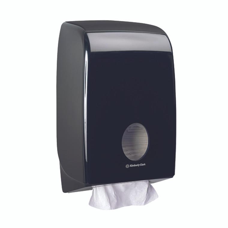 KC03793 Aquarius Hand Towel Dispenser Black 7171