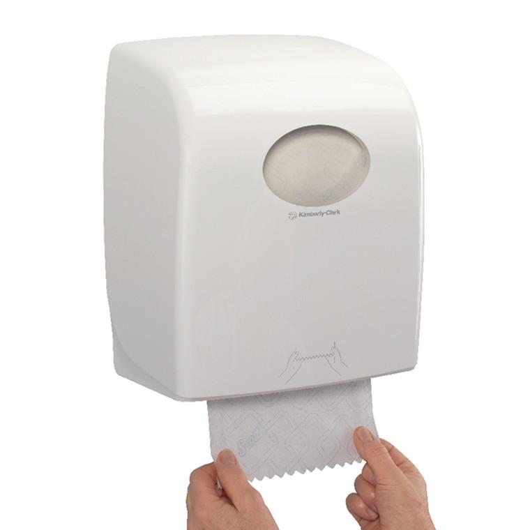 KC03862 Aquarius Slimroll Rolled Hand Towel Dispenser White 7955