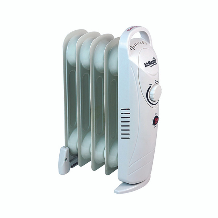 HID52956 500W Six Fin Baby Oil-Filled Radiator White CRHOF320 H