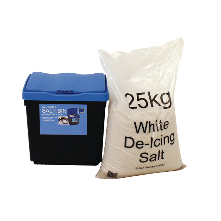 WE35438 30 Litre Grit Bin 25kg Salt Kit 389113