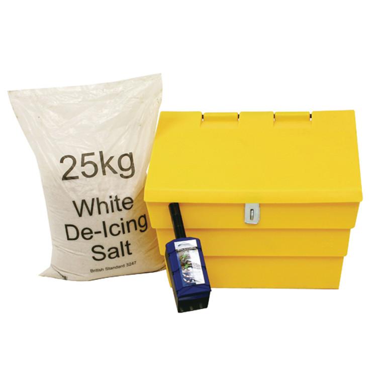 WE35441 50 Litre Lockable Grit Bin 25kg Salt Kit 389116