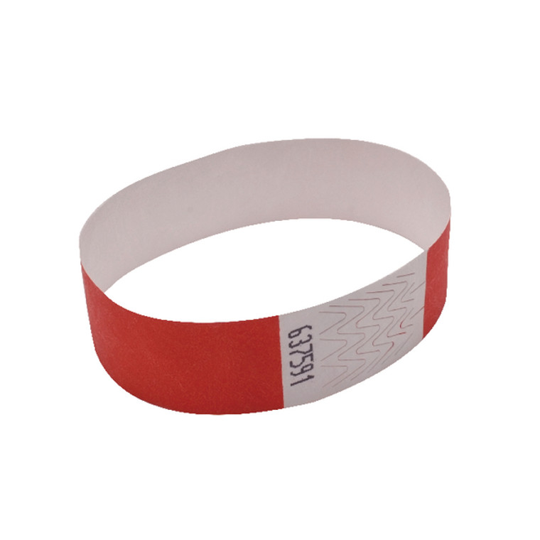 AA01839 Announce Wrist Band 19mm Warm Red Pack 1000 AA01839