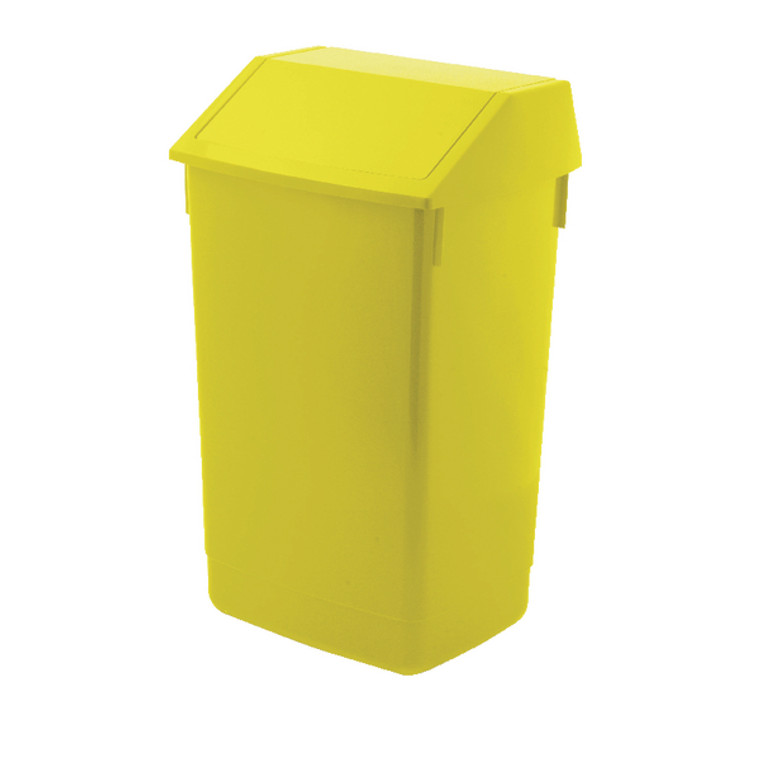 AG813423 Addis Fliptop Bin 60 Litre Yellow AG813423