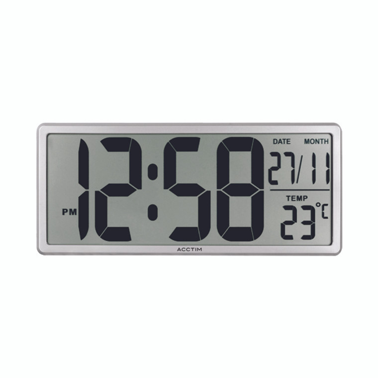ANG22357 Acctim Date Keeper Jumbo LCD Wall Desk Clock with Autoset 22357