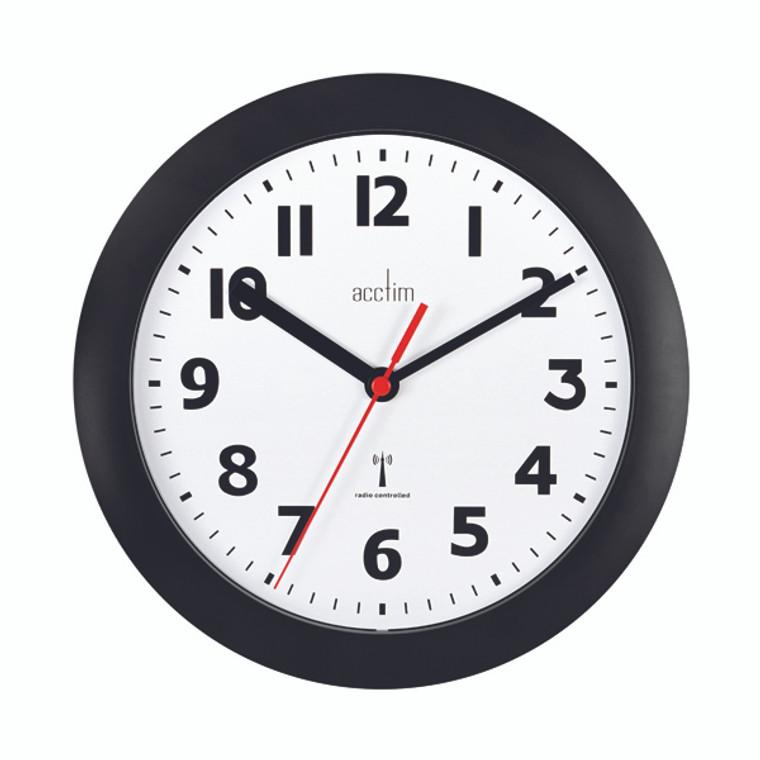 ANG74313 Acctim Parona Wall Clock 230mm Black 74313