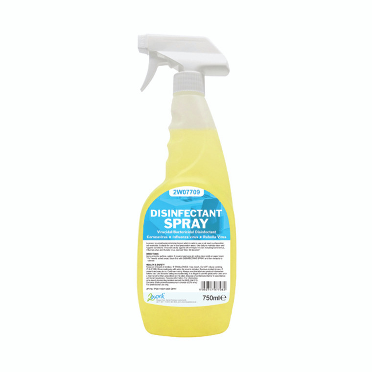 2W07709 2Work Disinfectant Spray 750ml Pack 6 2W07709