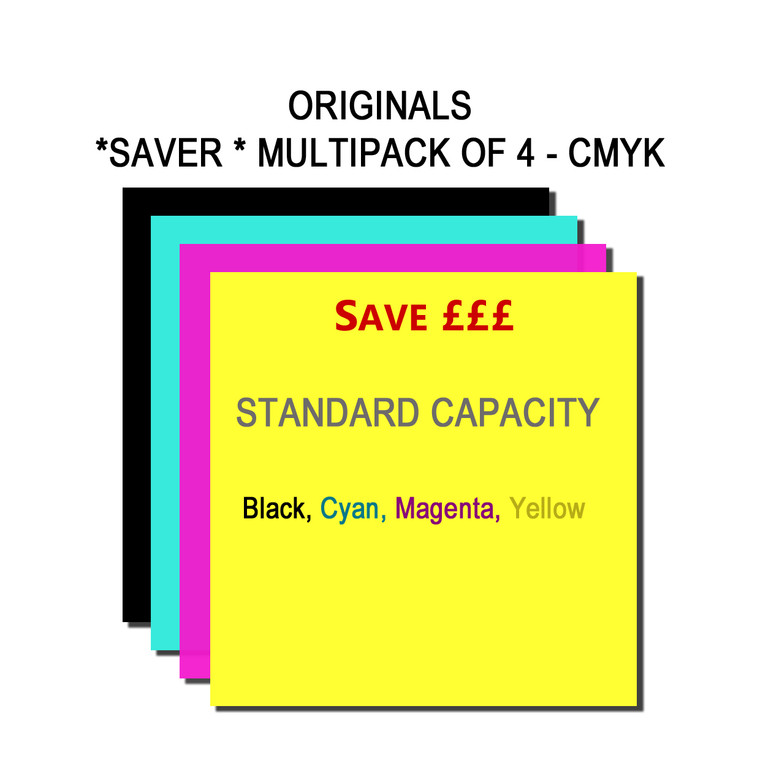 SET627 Epson BK C M Y C13T616100 C13T616200 C13T616300 C13T616400 Multipack 4 Ink Cartridges