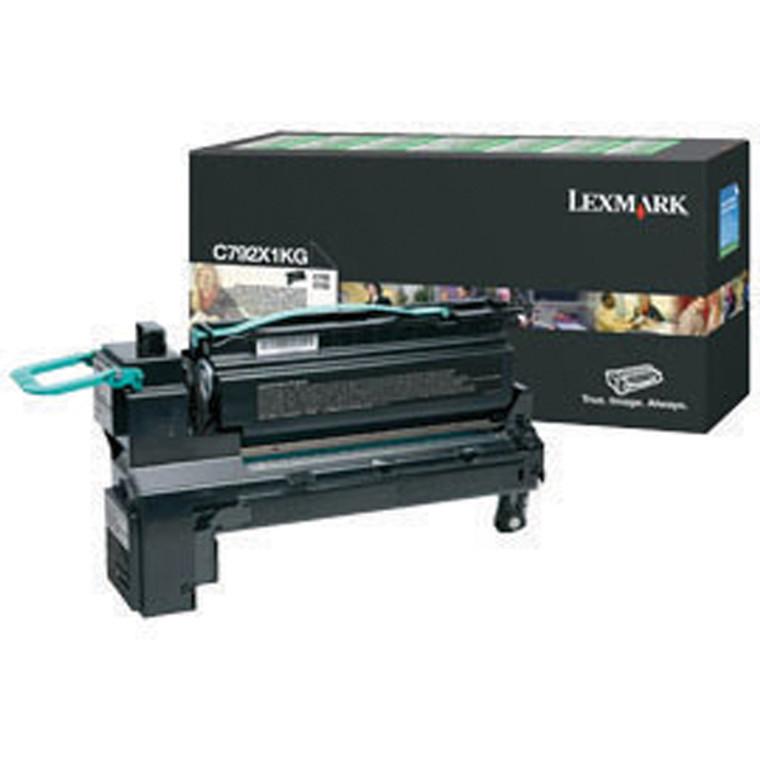 0C792X1KG Lexmark C792X1KG Black Ink Cartridge Use Return