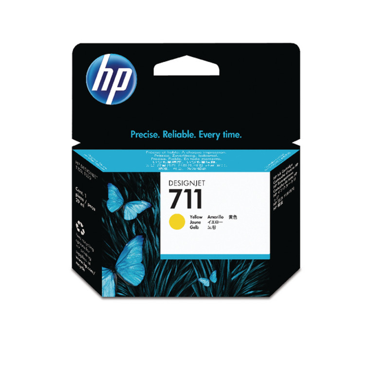 CZ132A HP CZ132A 711 Yellow Ink Cartridge