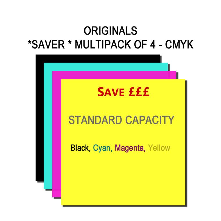 SET853 Epson BK C M Y T054140 T054240 T054340 T054440 Multipack 4 Ink Cartridges