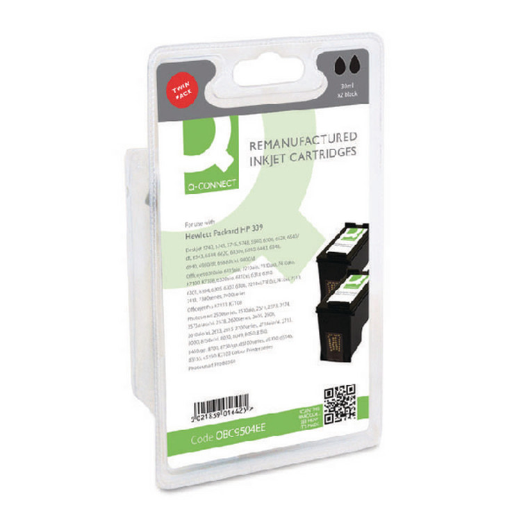 OBC9504EE Compatible replace HP C9504EE 339 Black Ink Cartridge Twin Pack