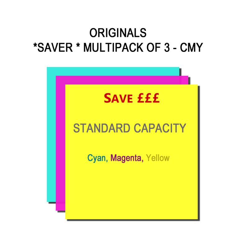 SET862 Epson C M Y T08024010 T08034010 T08044010 Multipack 3 Ink Cartridges