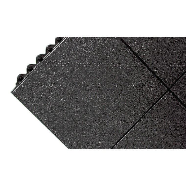 SBY95701 All-Purpose Anti-Fatigue Modular Mat Solid Surface Black 312413