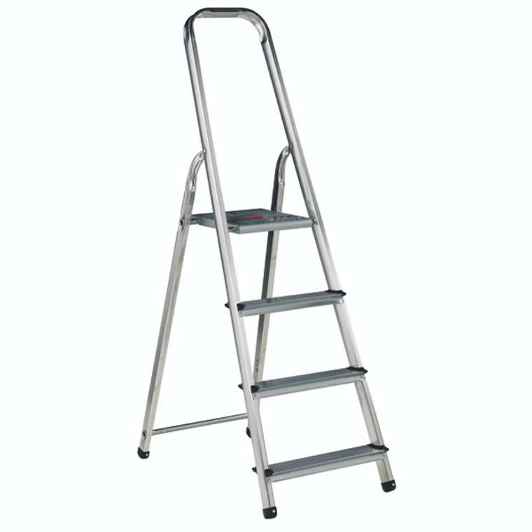 SBY16887 Aluminium Step Ladder 4 Step Platform sits 770mm Above the Floor 358738