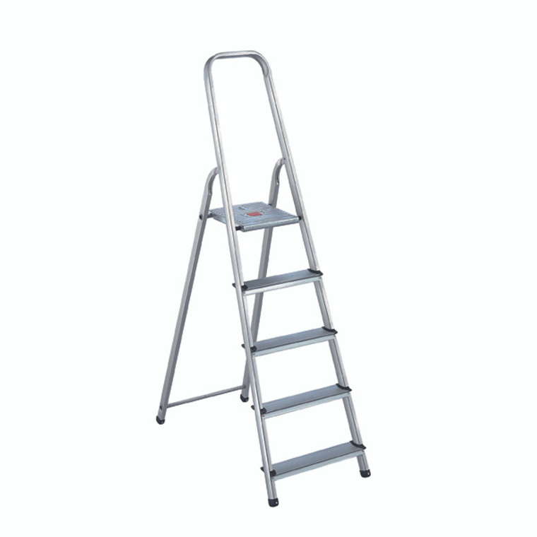 SBY16888 Aluminium Step Ladder 5 Step Platform sits 980mm Above the Floor 358739