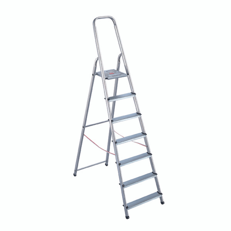 SBY16891 Aluminium Step Ladder 8 Step Platform sits 1620mm Above the Floor 358742