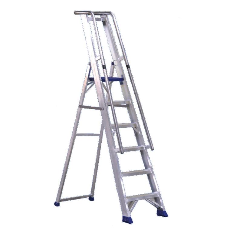 SBY22207 Aluminium Step Ladder With Platform 7 Steps 377857