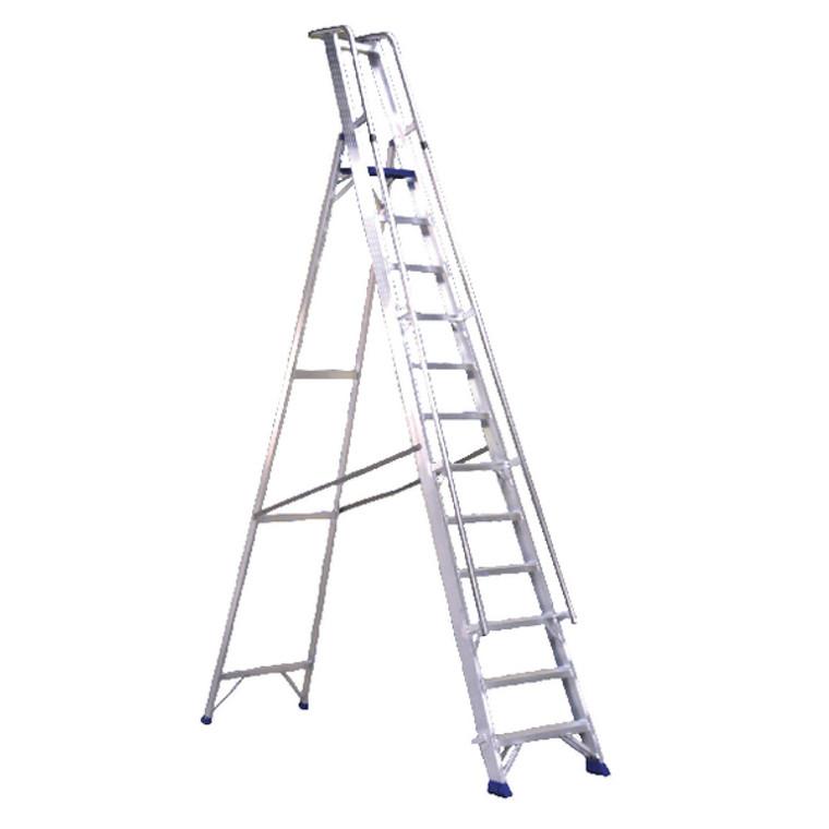 SBY22209 Aluminium Step Ladder With Platform 10 Steps 377860
