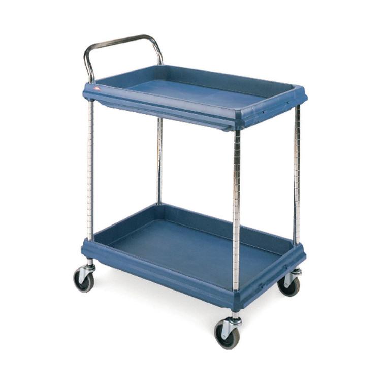 SBY10782 2 Tier Blue H1041xW832xD546mm Deep Ledge Trolley 322442