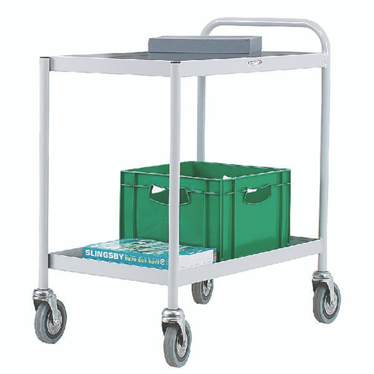 SBY14126 2 Tier Grey General Purpose Trolley 331490