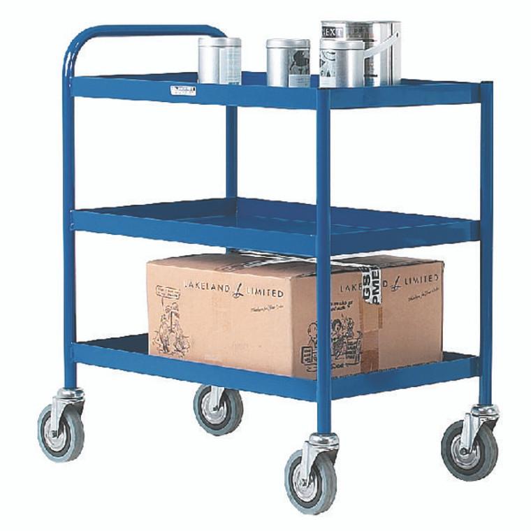 SBY14129 3 Tier Blue General Purpose Trolley 331493