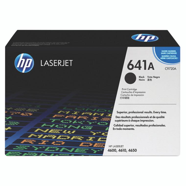 C9720A HP C9720A 641A Black Toner