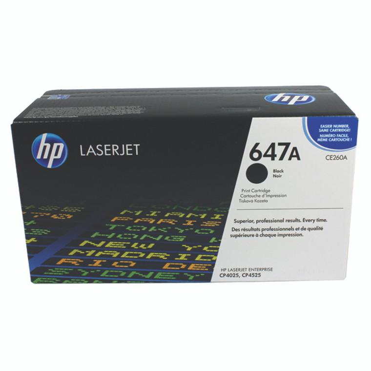 CE260A HP CE260A 647A Black Toner