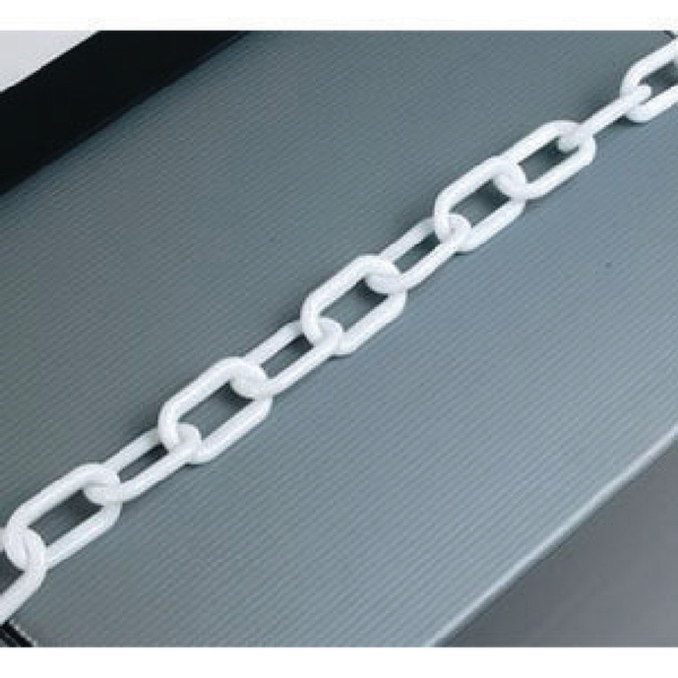 SBY17513 White Plastic 8mm Chain in 25 Metre Lengths - 360077
