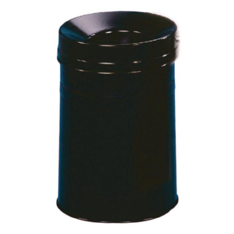 SBY05610 Waste Bin 30 9 Litre Fire Extinguishing Lid Black 309588