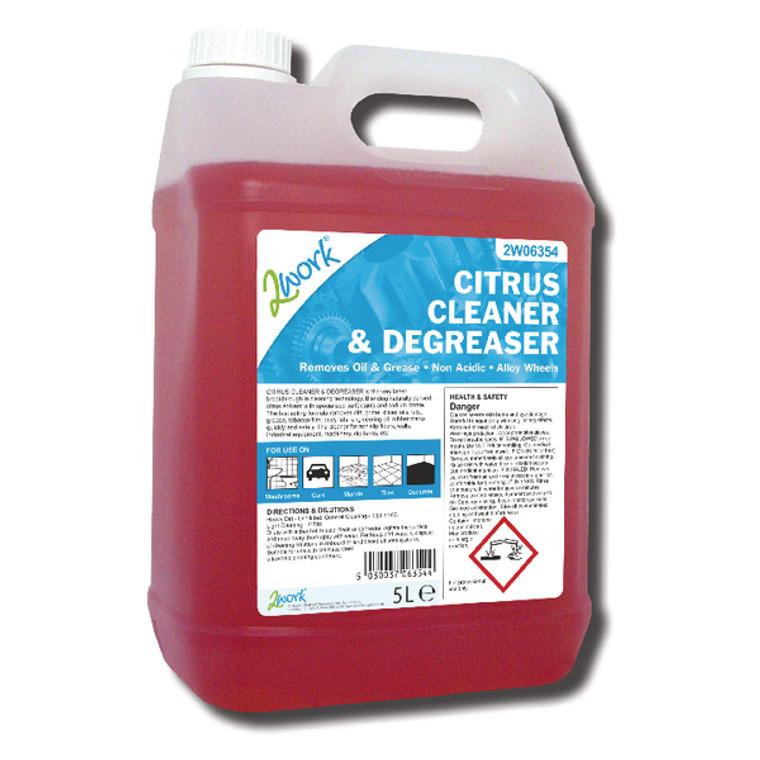 2W06354 2Work Citrus Cleaner Degreaser 5 Litre 326