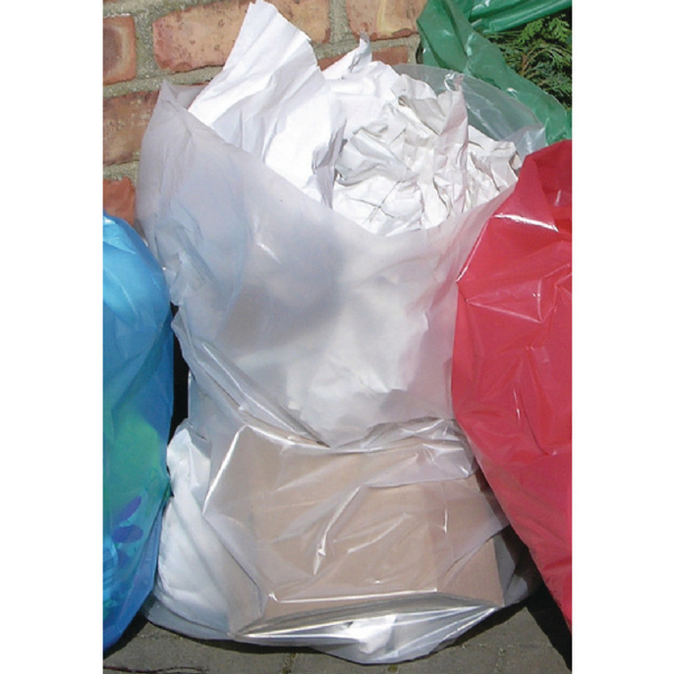 2W06255 2Work Polythene Bags Clear Pack 250 2W06255