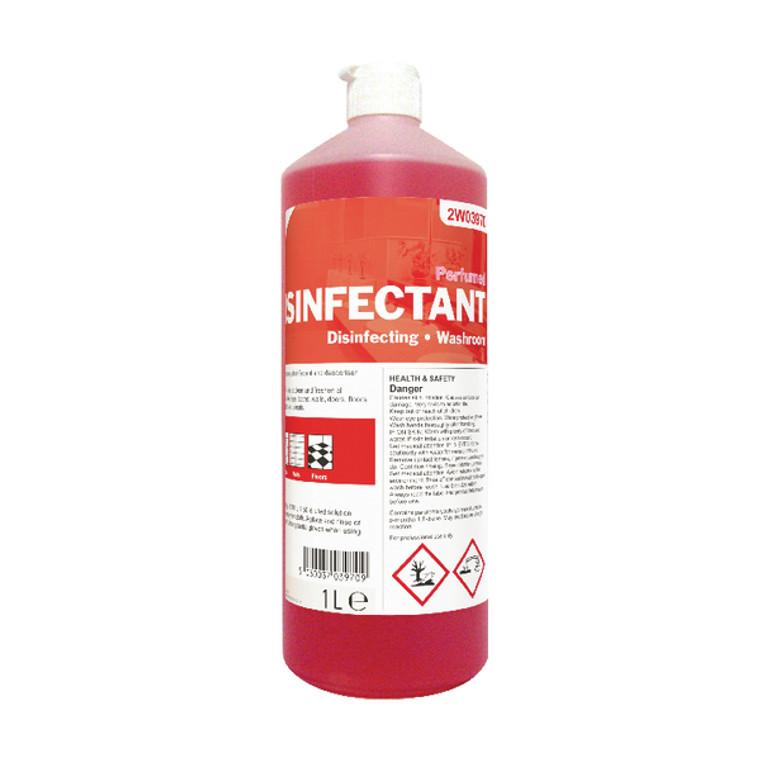 2W03970 2Work Disinfectant Washroom Cleaner Perfumed 1 Litre 898