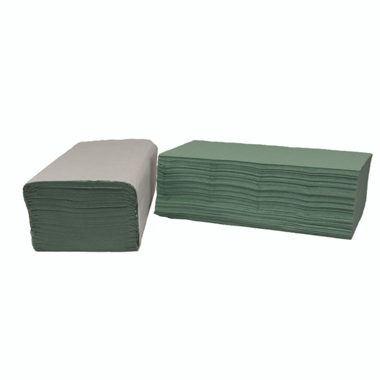 2W70105 2Work 1-Ply I-Fold Hand Towels Green Pack 3600 2W70105