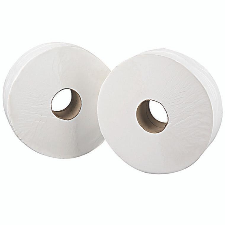 2W70203 2Work 2-Ply Jumbo Toilet Roll 76mm Core Pack 6 J27400VW