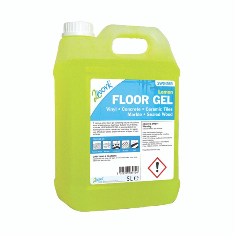 2W04569 2Work Lemon Floor Gel 5 Litre 2W04569