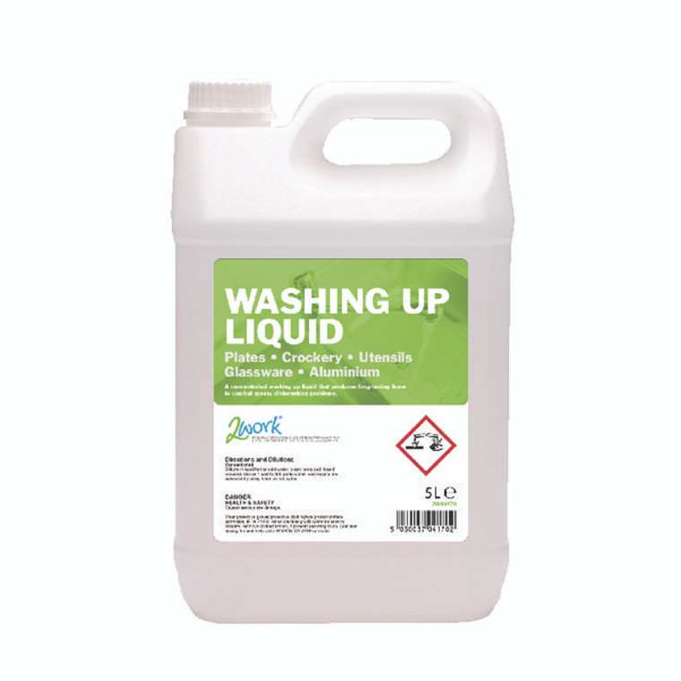 2W04170 2Work Washing Up Liquid 5 Litre 432