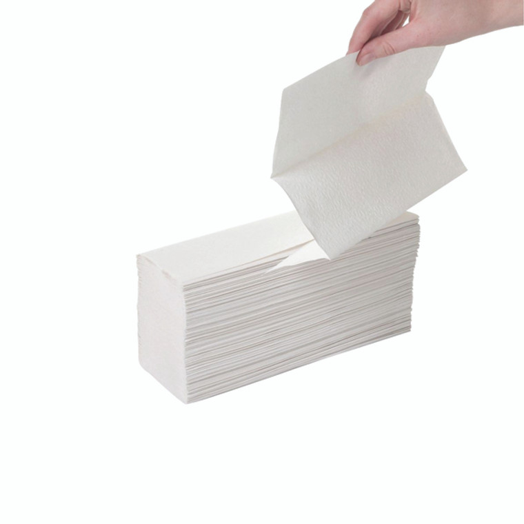 2W70664 2Work 2-Ply Z-Fold Hand Towels White Pack 2250 HTL003DS